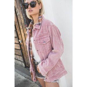 Jackets & Blazers - Stone Washed Corduroy Jacket New S M L New Pink